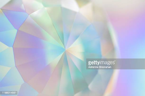 pastel colored faceted crystal - precious gemstone stock pictures, royalty-free photos & images