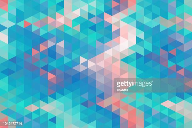 pastel colored triangular abstract background - motivo ornamentale foto e immagini stock