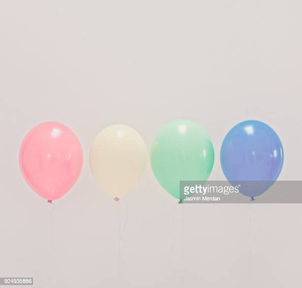 Pastel colors balloons