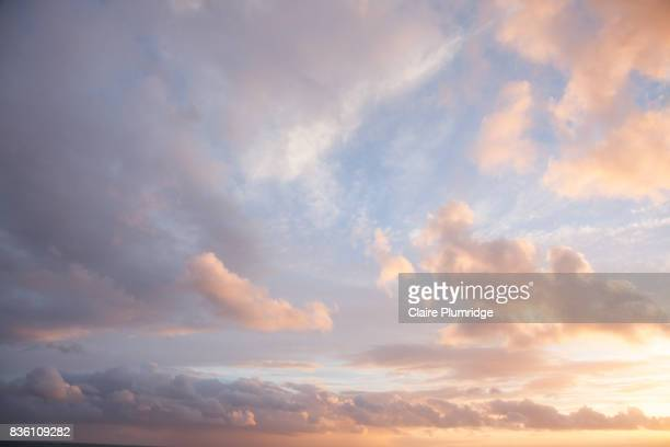 Pastel - creamy coloured clouds