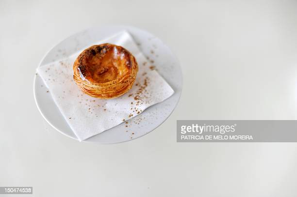 A 'Pastel de nata' Lisbon's typical pastry is pictured at the Nata's Cafe in Lisbon on August 10 2012 Under the slogan 'The world needs Nata' the...