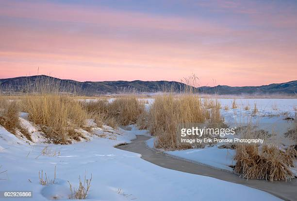 pastel sunrise - steamboat springs colorado - fotografias e filmes do acervo