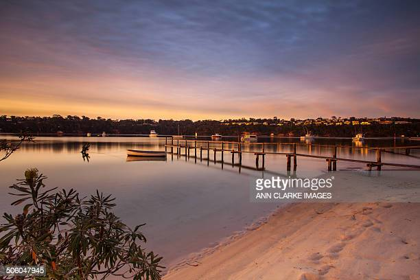 pastel sunset - merimbula stock pictures, royalty-free photos & images