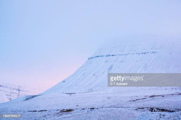 pastel sunset snow capped mountain slopes - antarctic sound stock pictures, royalty-free photos & images
