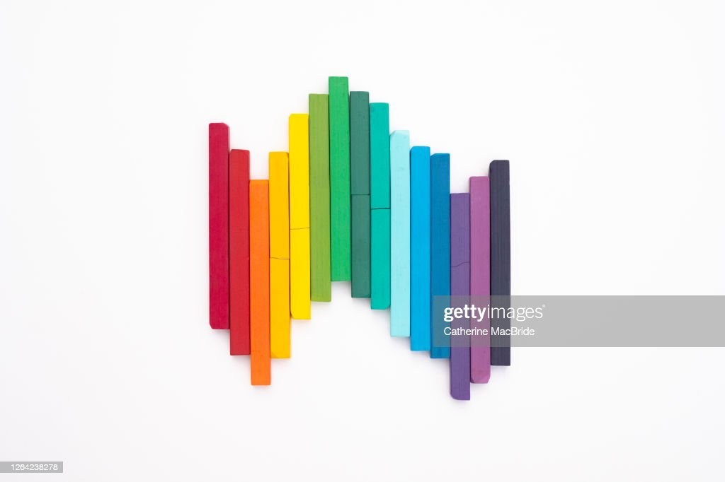 Pastels in an Up and Down Pattern : Stock Photo