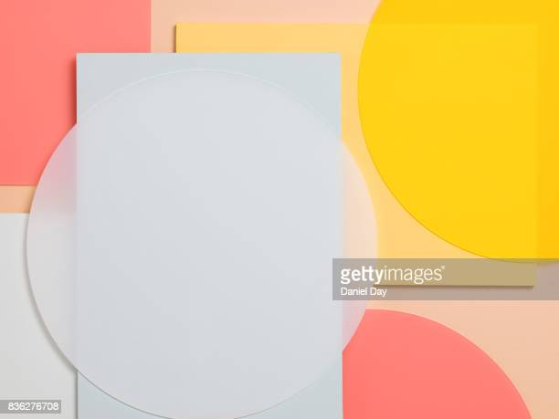 pastels - geometric design stock photos and pictures