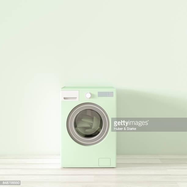 pastels - waschmaschine stock-fotos und bilder