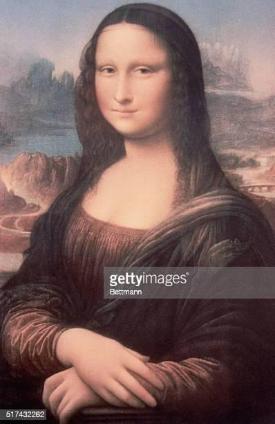 Pasteltoned copy of Leonardo da Vinci's painting Mona Lisa 15031506