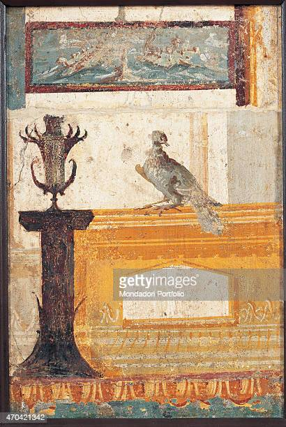 'Pastiche by unknown artist 5579 1st Century AD ripped fresco 31 x 45 cm Italy Campania Naples National Archaeological Museum Room LXXVIII inv 9866...