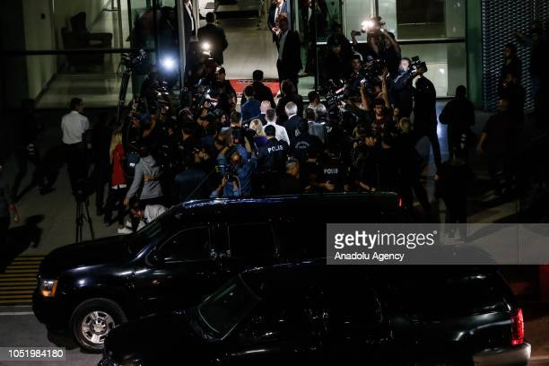US pastor Andrew Brunson accompanied by his wife Norine Brunson and The US Embassy Charge d'Affaires in capital Ankara Jeffrey Hovenier arrives at...