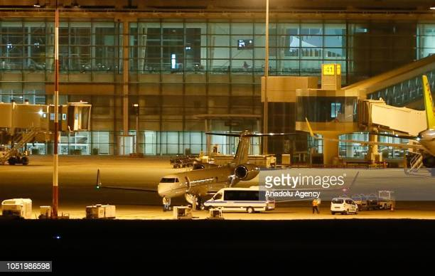 US pastor Andrew Brunson accompanied by his wife Norine Brunson departs from Adnan Menderes Airport to Germany on October 12 2018 in Izmir Turkey...