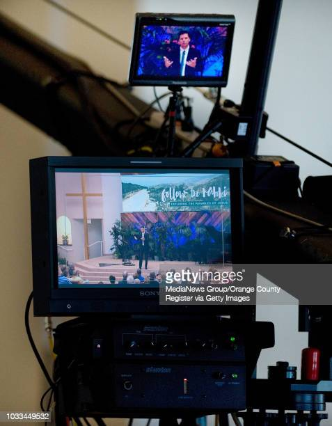 Pastor Bobby Shuller of Shepherd's Grove church in Garden Grove records the Hour of Power telecast during Sunday services. The TV ministry was...