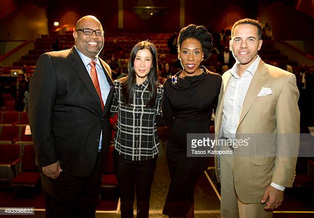 "Pastor Corey Brooks, Lisa Ling, Brandi Harvey, and Steve Pemberton attend the CNN and the Steve and Marjorie Harvey Foundation host ""This is Life..."