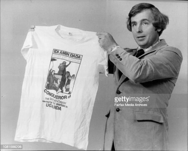 Pastor David Syme of the 7th Day Adventists with an Idi Amin T Shirt July 31 1980