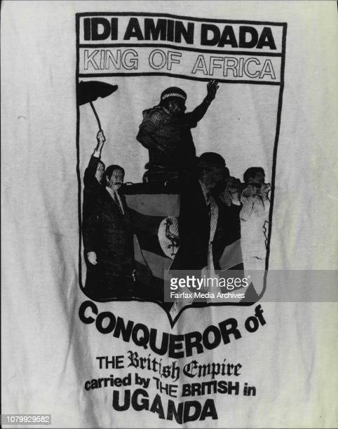 Pastor David Syme of the 7th day adventists with an Idi Amin Tshirt July 31 1980