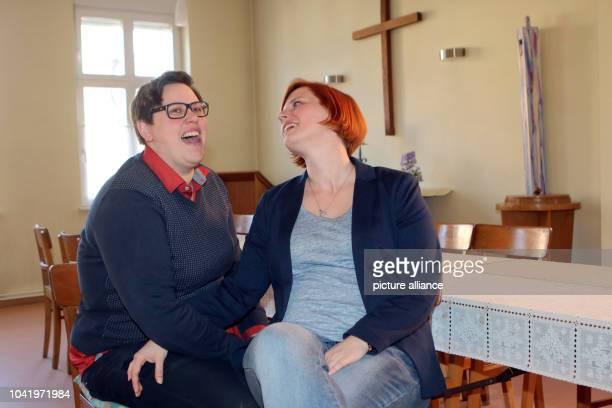 Pastor Ellen Radtke and her wife Stefanie Radtke in Golzow Germany 01 April 2016 Both of them have been advocating proper wedding ceremonies for...
