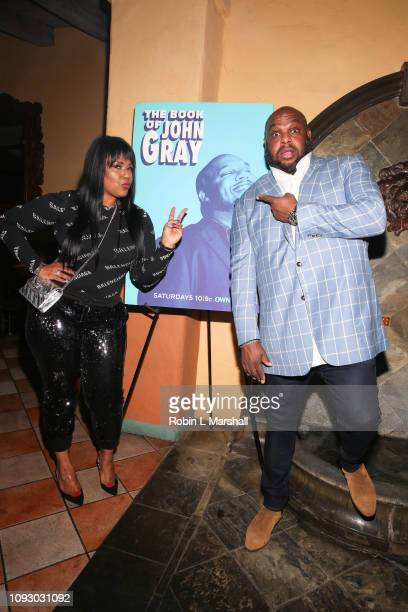 Pastor John Gray and Aventer Gray attend NAACP Image Awards special screening of Own's 'The Book Of John Gray' at Raleigh Studios on January 11 2019...
