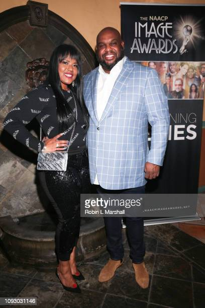 Pastor John Gray and wife Aventer Gray attend NAACP Image Awards special screening of OWN's 'The Book Of John Gray' at Raleigh Studios on January 11...