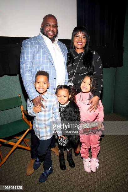 Pastor John Gray Aventer Gray and family attend NAACP Image Awards special screening of Own's 'The Book Of John Gray' at Raleigh Studios on January...