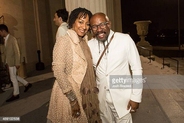 Pastor Juanita Rasmus and Pastor Rudy Rasmus pose for a photo at the wedding after party for Musician Solange Knowles and her new husband music video...