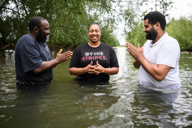 GBR: The Apostolic Faith Church Conduct Baptisms At The Wolvercote Bathing Place