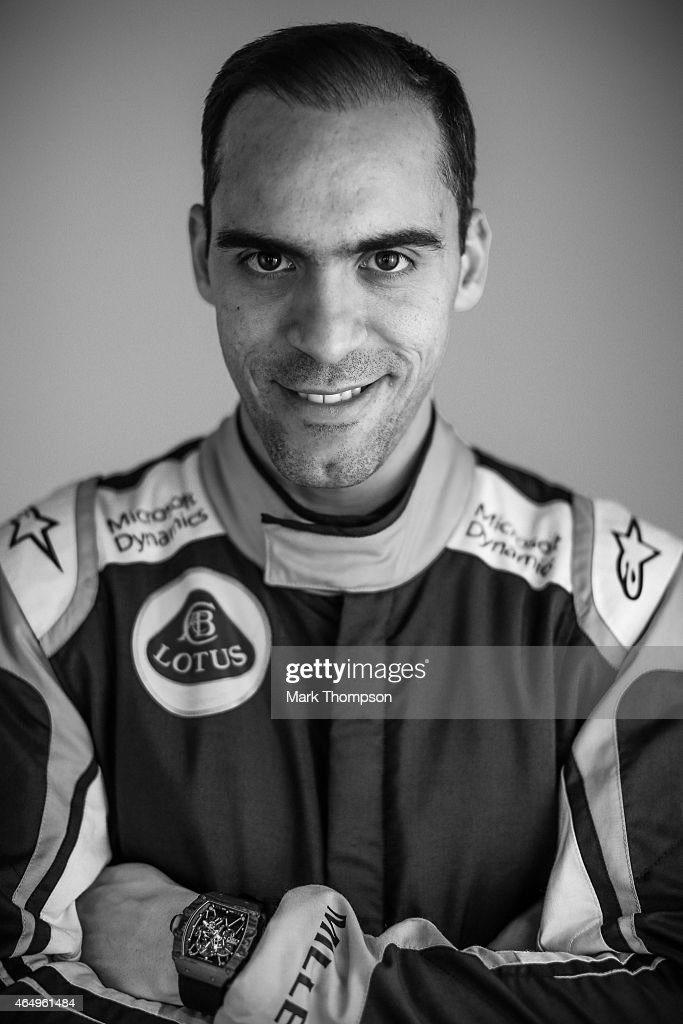 Pastor Maldonado of Venezuela and Lotus poses for a portrait during day three of Formula One Winter Testing at Circuit de Catalunya on February 21, 2015 in Montmelo, Spain.