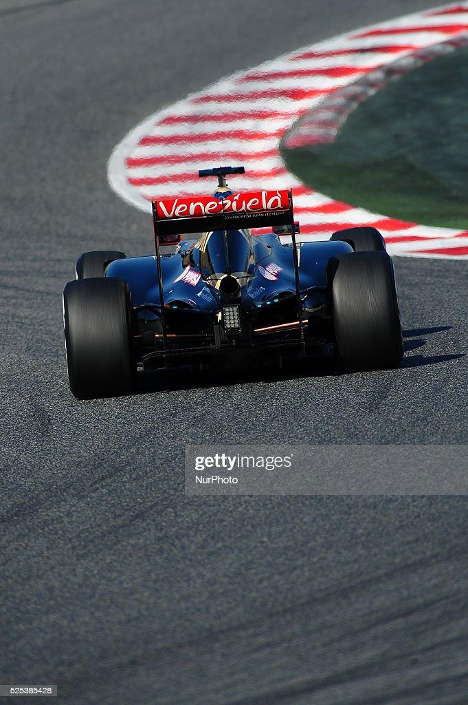 Tests of Formula 1 at the Circuit de Catalunya : News Photo