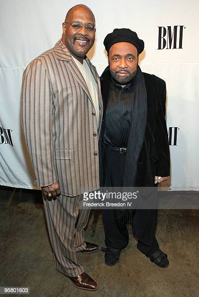 Pastor Marvin Winans and Andrae Crouch attend the 11th Annual Trailblazers of Gospel Music Awards Luncheon at Rocketown on January 15 2010 in...