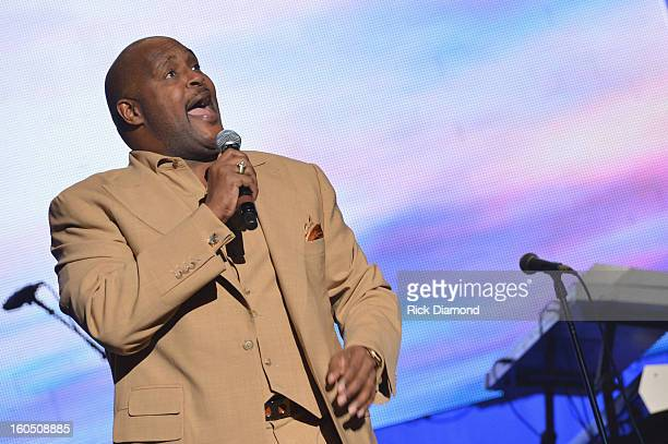 Pastor Marvin Winans sings onstage at the Super Bowl Gospel 2013 Show at UNO Lakefront Arena on February 1 2013 in New Orleans Louisiana