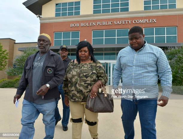 Pastor Michael Bell left accompanies Jacqueline Craig on Friday May 19 2017 at the Bob Bolen Public Safety Complex in Fort Worth Texas Fort Worth...