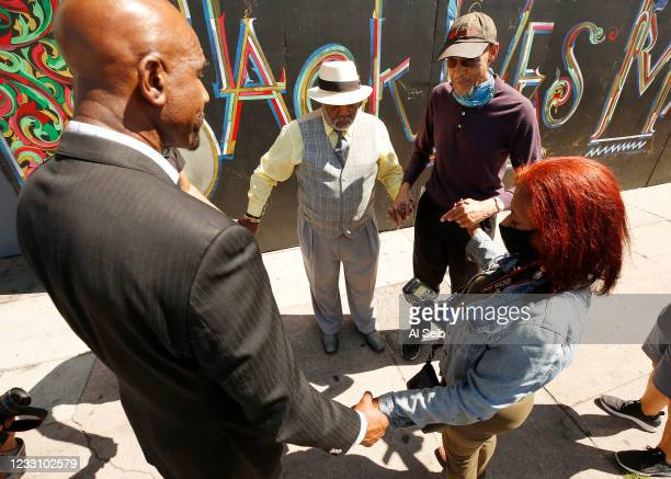 Pastor Oliver E. Buie, Reverend Jonathan Moseley, author and political analyst Earl Ofari Hutchinson and Donna Dymally of the National Action...