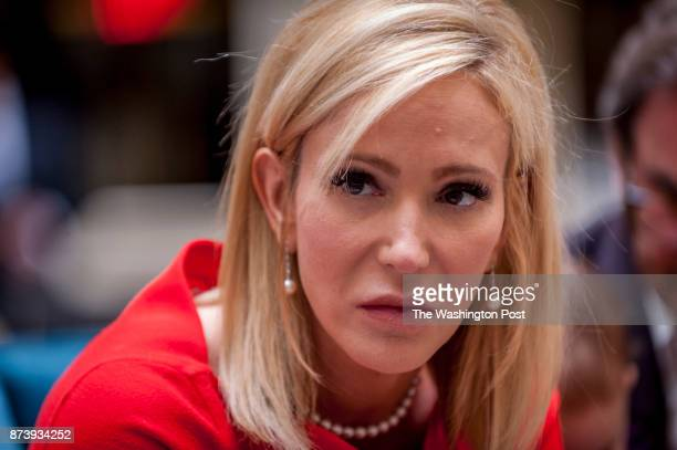 Pastor Paula White a Pentecostal Christian televangelist speaks to guests at a meeting at the Trump International Hotel on July 27 2017 in Washington...