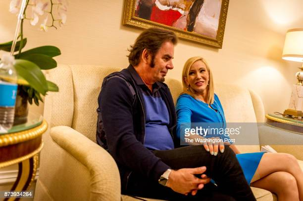 Pastor Paula White a Pentecostal Christian televangelist with her husband Jonathan Cain works in her room at the Trump International Hotel on July 28...