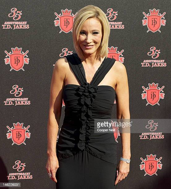 Pastor Paula White arrives for the 35th Anniversary Celebration for Bishop Thomas Dexter 'TD' Jakes Sr at the ATT Performing Arts Center on June 8...