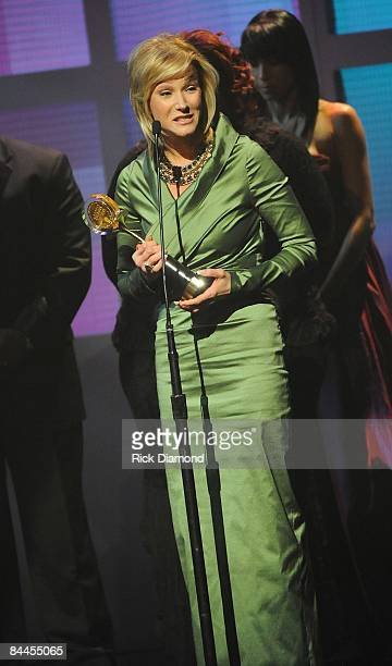 Pastor Paula White receives award at the 17th Annual Trumpet Awards at the Cobb Energy Performing Arts Centre on January 25 2009 in Atlanta Georgia