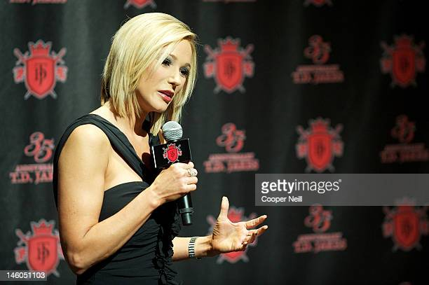 Pastor Paula White speaks with the media during the 35th Anniversary Celebration for Bishop Thomas Dexter TD Jakes Sr at the ATT Performing Arts...