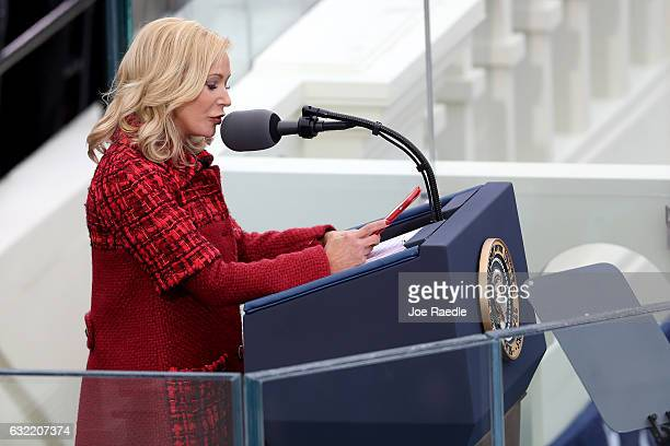 Pastor Paula WhiteCain speaks on the West Front of the US Capitol on January 20 2017 in Washington DC In today's inauguration ceremony Donald J Trump...