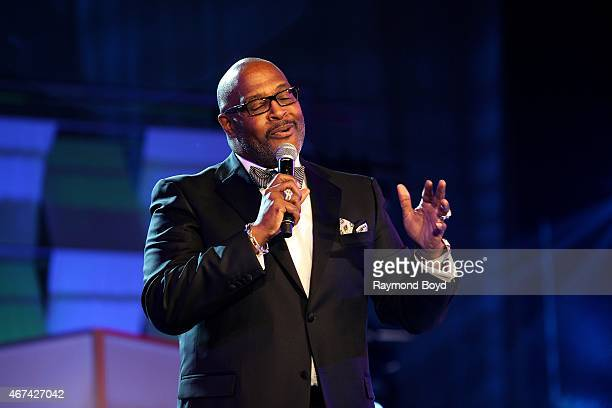 Pastor Preacher Singer Composer and Musician Marvin Winans speaks after receiving the Lifetime Achievement Award Founder's Edition during the...