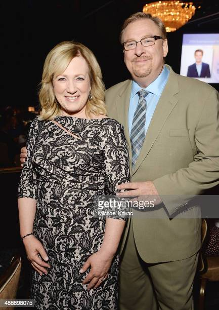 Pastor Rick Warren and wife Kay Warren attend the Anti-Defamation League Entertainment Industry Dinner Honoring Roma Downey And Mark Burnett at The...