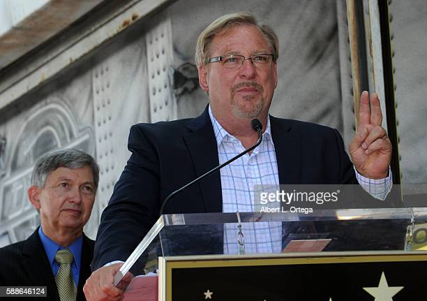 Pastor Rick Warren at Roma Downey's Star ceremony held on the Hollywood Walk Of Fame on August 11, 2016 in Hollywood, California.
