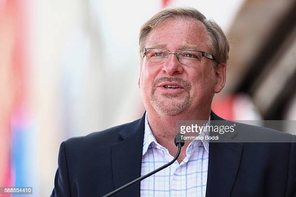 Pastor Rick Warren attends a ceremony honoring actress/producer Roma Downey with a star on the Hollywood Walk of Fame on August 11, 2016 in...