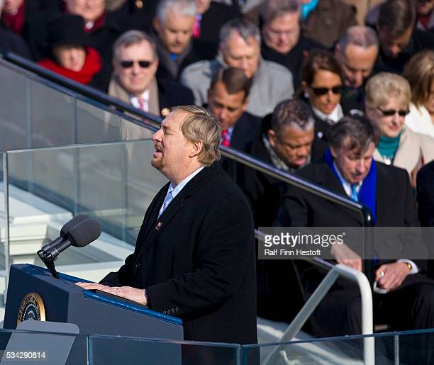 Pastor Rick Warren gives the benediction at the Inauguration of PresidentElect Barack Obama