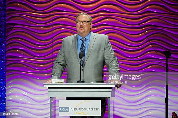 Pastor Rick Warren speaks at the 2015 UCLA Neurosurgery Visionary Ball at the Beverly Wilshire Four Seasons Hotel on October 29, 2015 in Beverly...