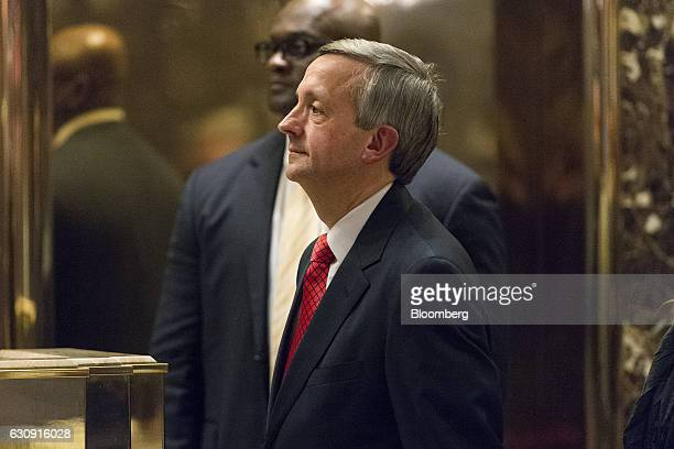 Pastor Robert Jeffress arrives in the lobby of Trump Tower in New York US on Tuesday Jan 3 2016 Presidentelect Donald Trump threatened to punish...