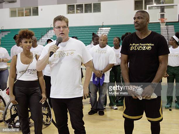 Pastor Scott Claunch and Dwyane Wade Sr attend the Propops Foundation Fathers Day Weekend on June 18 2016 in Miami Florida