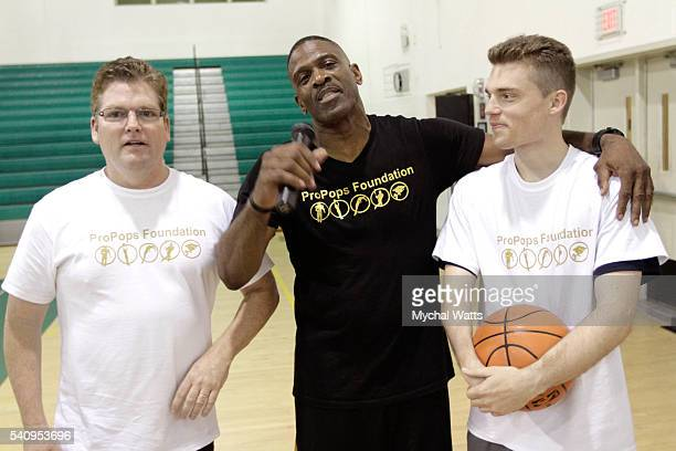 Pastor Scott Claunch Dwyane Wade sr and Stephen Claunch attend Propops Foundation Fathers Day Weekend>> on June 18 2016 in Miami Florida