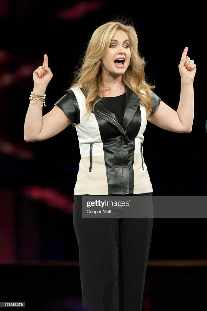 Pastor Victoria Osteen speaks during MegaFest at the American Airlines Center on August 30, 2013 in Dallas, Texas.