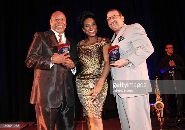 Pastor Willie Barnes actress Sheryl Lee Ralph and pastor Clint Brown attend the All Star Gospel Brunch at Disney Yacht and Beach Club on February 25...