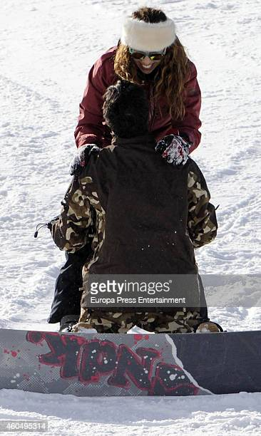 Pastora Soler and Francis Vinolo are seen on December 13 2014 in Baqueira Beret Spain