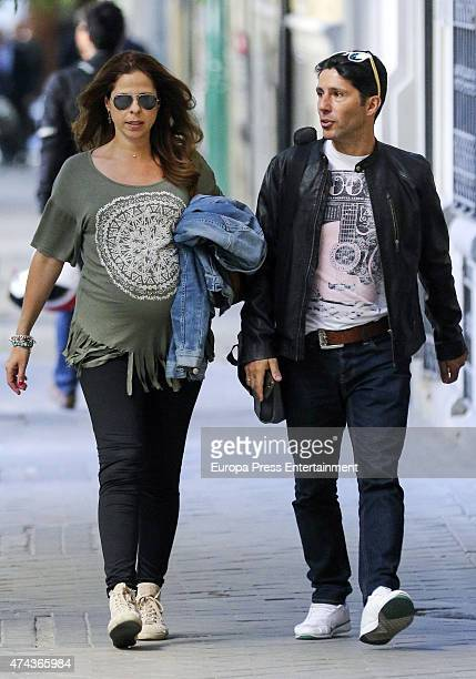 Pastora Soler and Francis Vinolo are seen on May 21 2015 in Madrid Spain